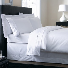 Dorma 250 Thread Count White Bed Linen Collection