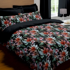 Odiana 100% Cotton Black Bed Linen Collection