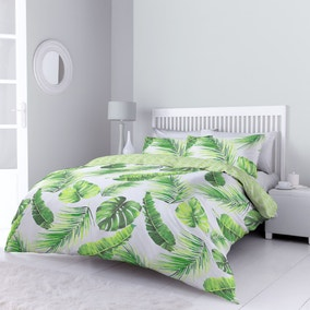 Tropical Leaves Green Bed Linen Collection