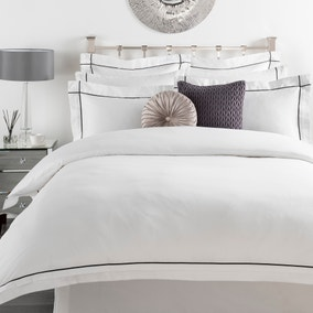 5A Portland 300 Thread Count White Bed Linen Collection