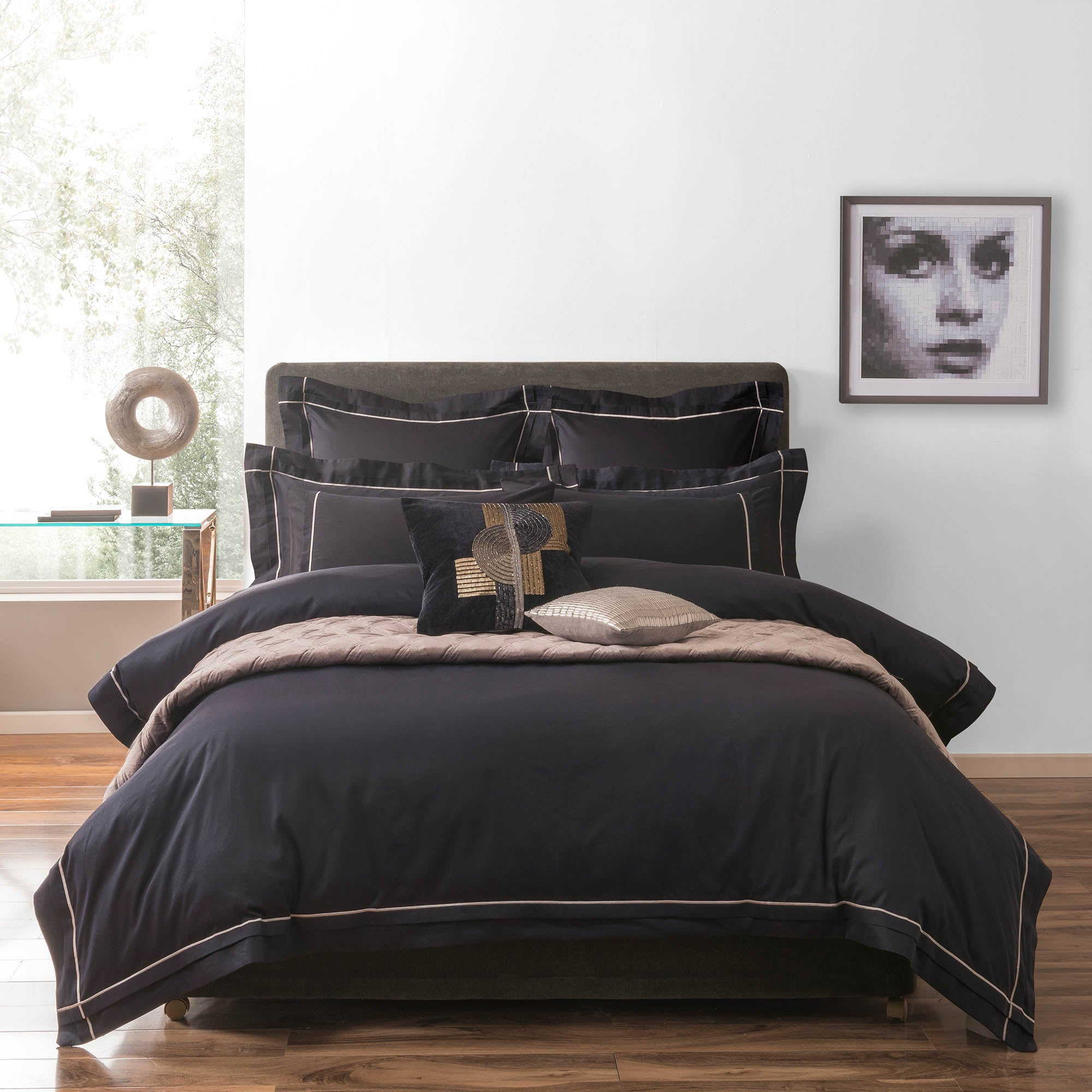 5A Fifth Avenue Portland 300 Thread Count Navy Bed Linen Collection