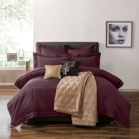 5A Portland 300 Thread Count Plum Bed Linen Collection