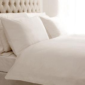 5A 400 Thread Count Plain White Bed Linen Collection