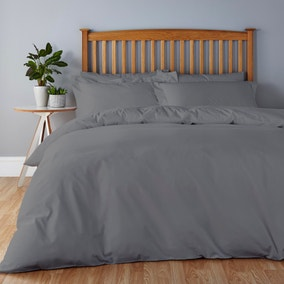 Easycare Graphite Grey Bed Linen Collection