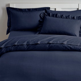 Brushed Cotton Navy Bed Linen Collection