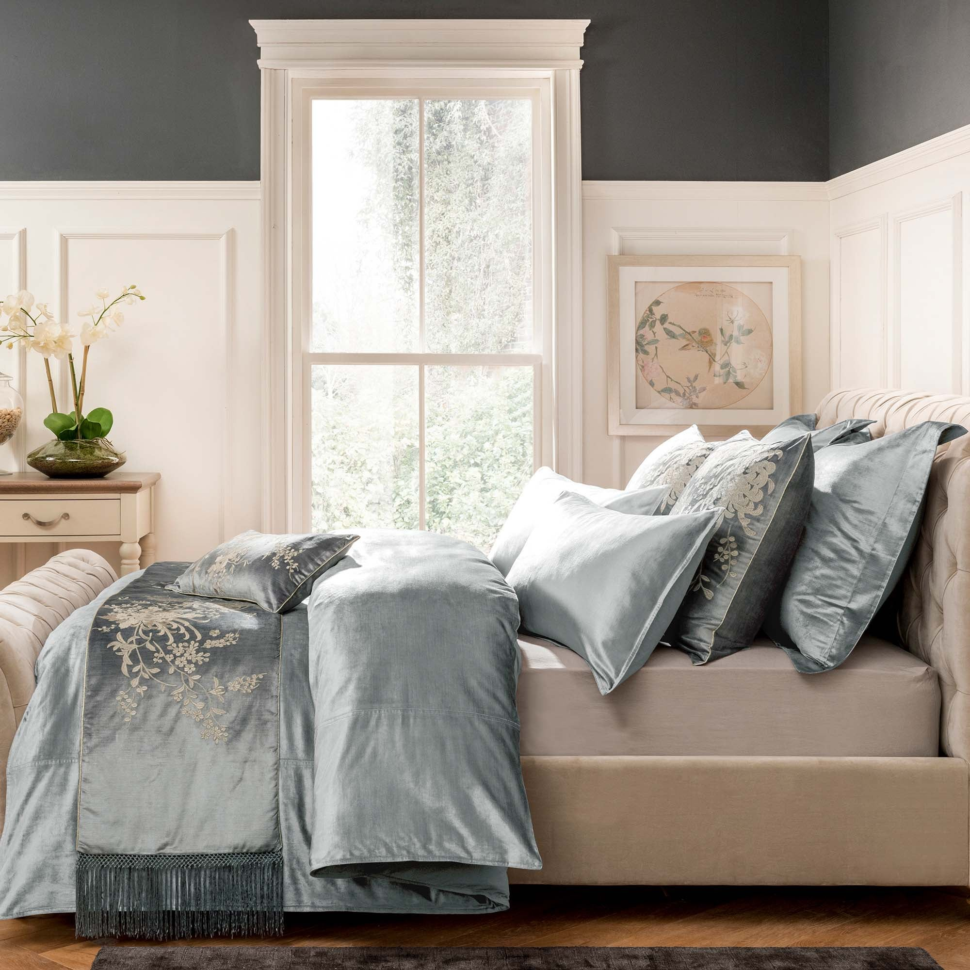 Dorma Camberly Pewter Bed Linen Collection