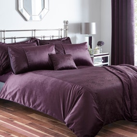 Serena Plum Bed Linen Collection