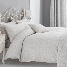 Etienne Stone Jacquard Bed Linen Collection