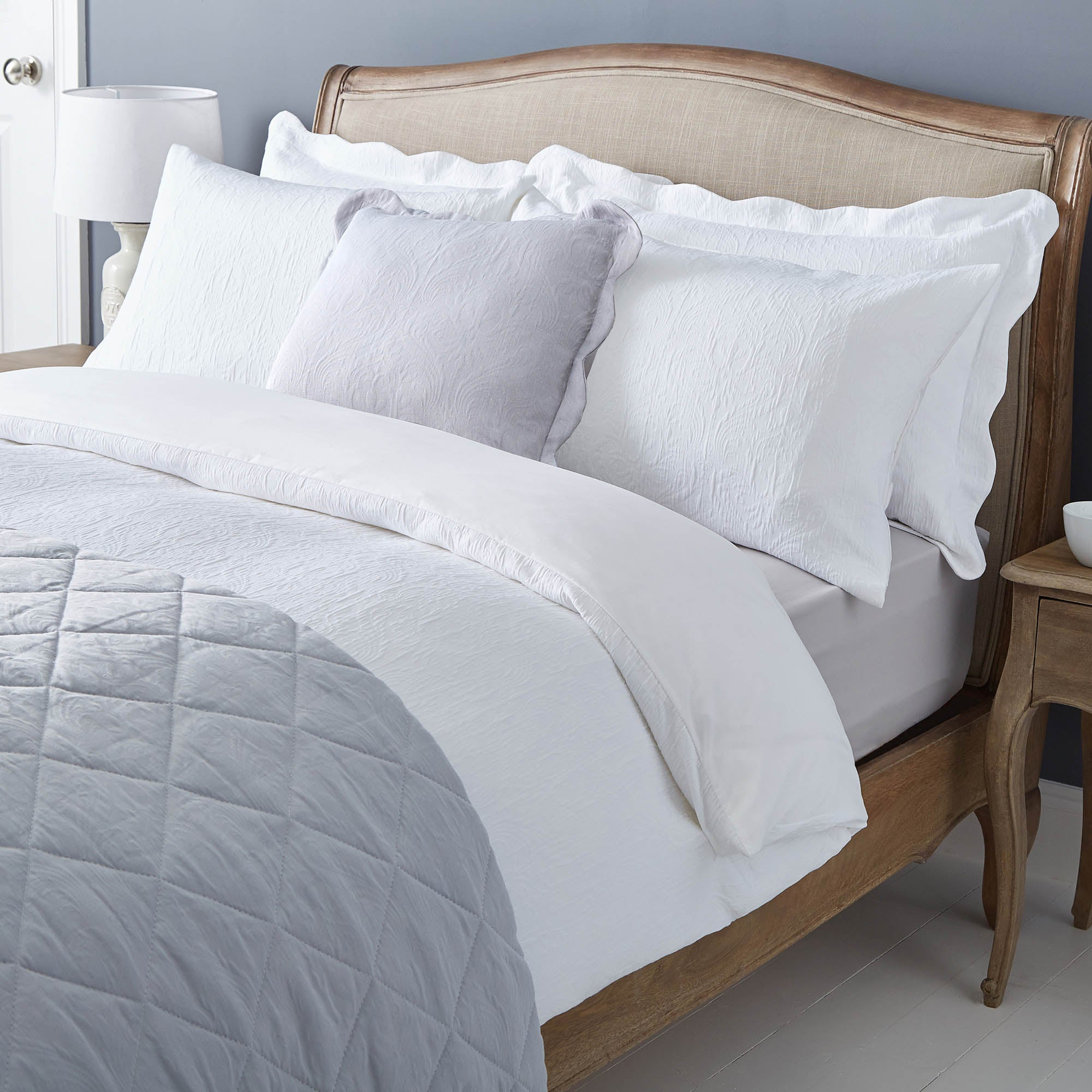 Marissa White Matalasse Bed Linen Collection