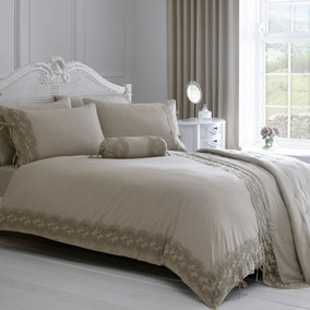 Gretta Grey Bed Linen Collection