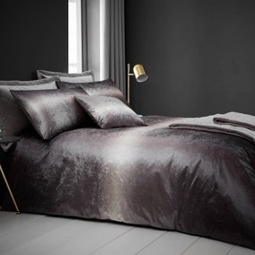 Valentina Velvet Silver Bed Linen Collection