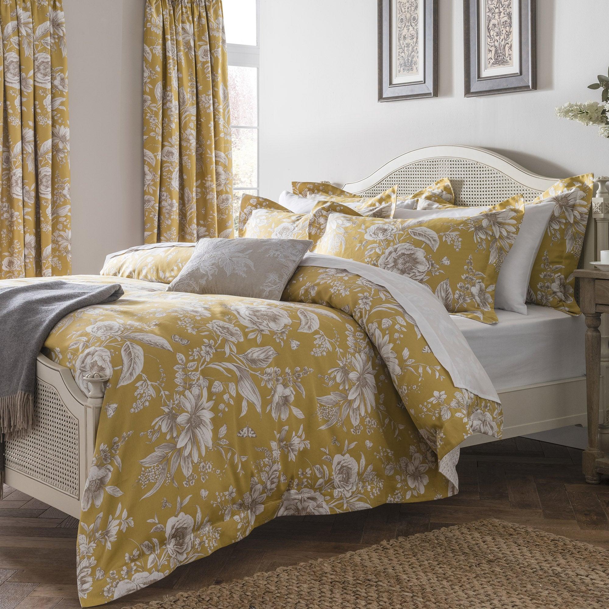 Dorma Alcea Ochre Bed Linen Collection Dunelm