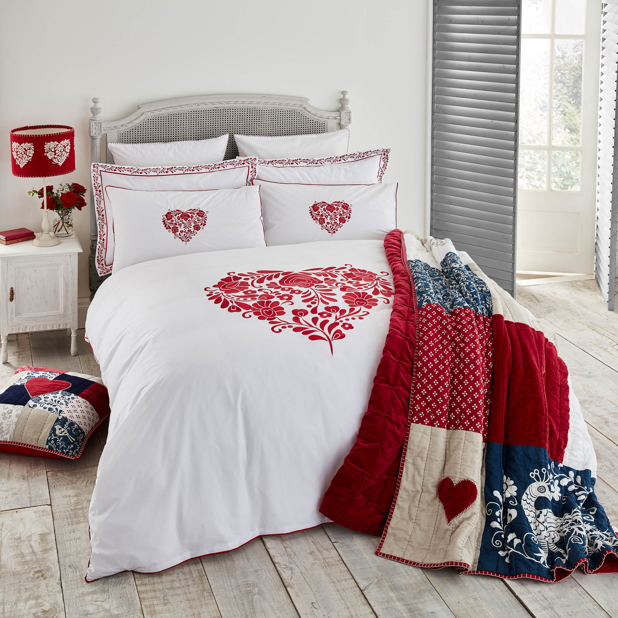 Red Bedroom Furniture. Preston Full-sized Wood Panel Headboard Bed By  INSPIRE Q Junior Red Bedroom Furniture