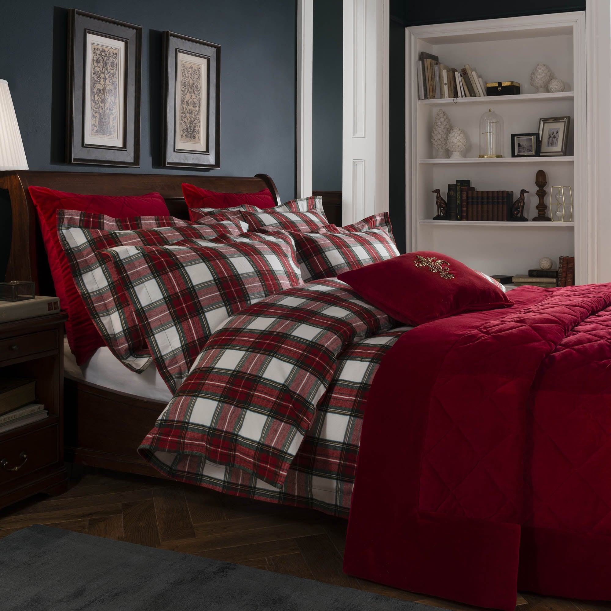 Dorma Brodie Red Bed Linen Collection