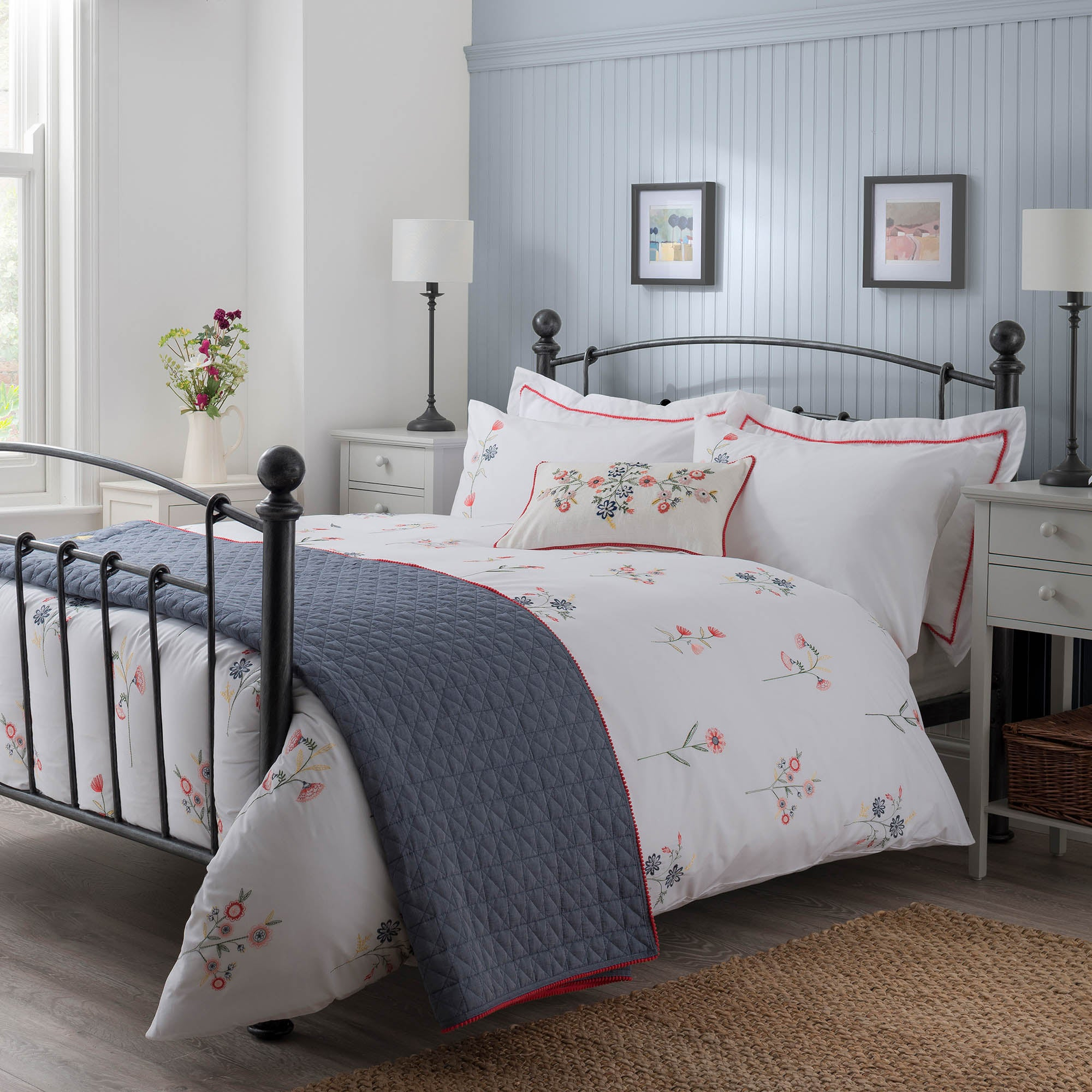 Gretel Red Bed Linen Collection
