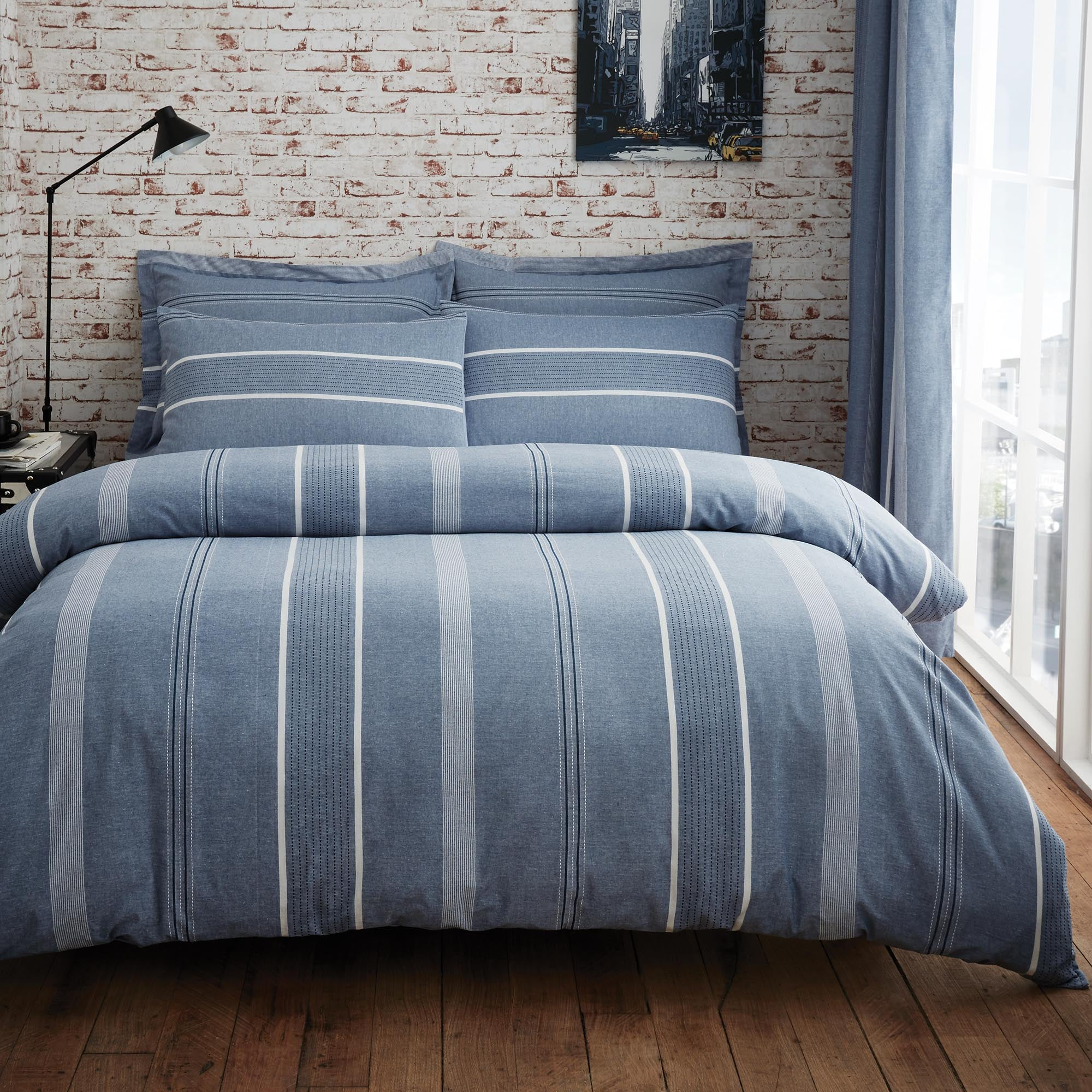 Willington Blue Bed Linen Collection