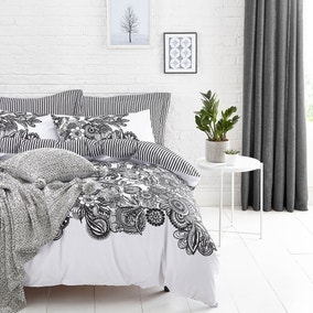 Elements Zia Black Bed Linen Collection