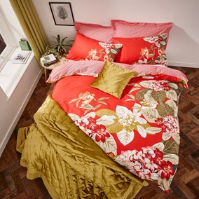 Odette Red Bed Linen Collection