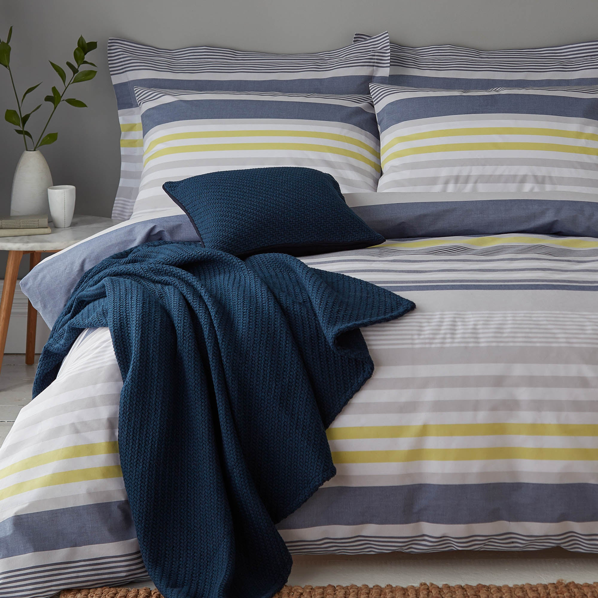 Connor Blue Bed Linen Collection