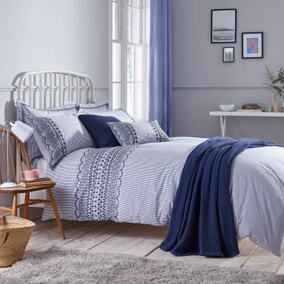 Pioneer Blue Bed Linen Collection