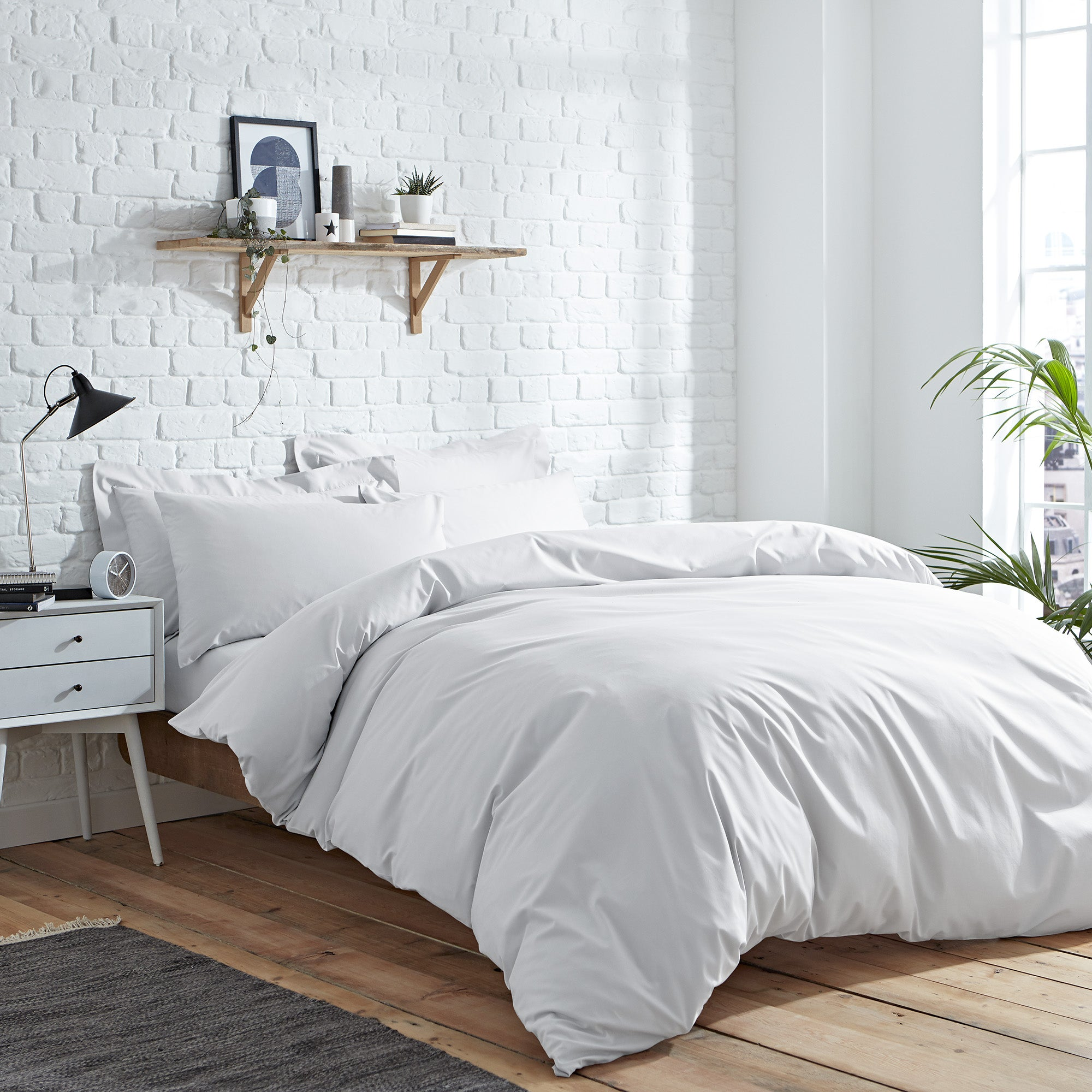 Elements Easycare White Bed Linen Collection