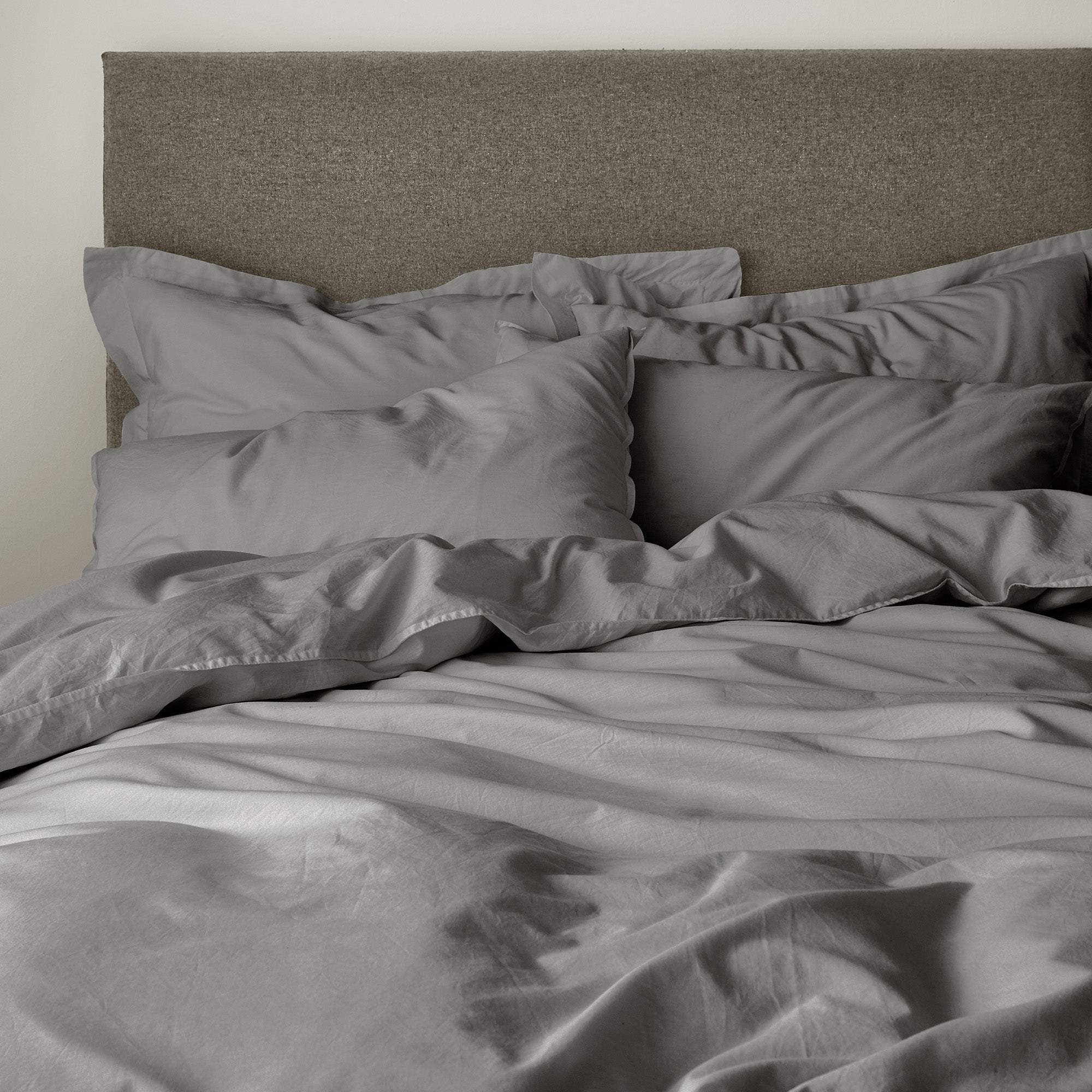 Casual Cotton Charcoal Bed Linen Collection