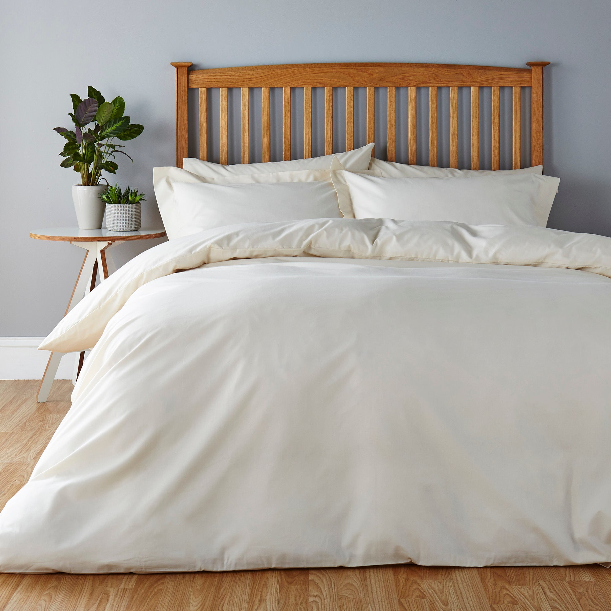Easycare Plain Dye Cream Bed Linen Collection