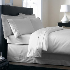 Dorma 350 Thread Count Cotton Satin Silver Bed Linen Collection