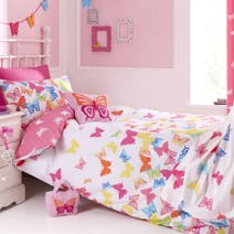 Kids Bright Butterflies Bed Linen Collection