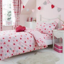 Kids Loveable Hearts Bed Linen Collection
