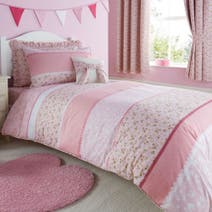 Polly Pink Bed Linen Collection.