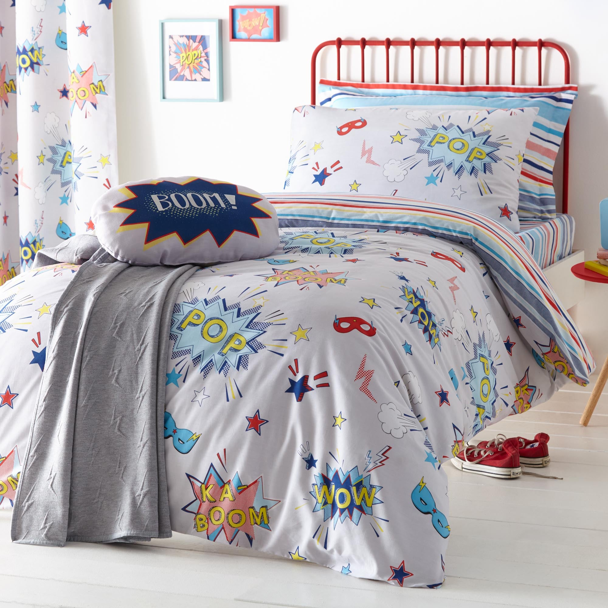 Superpop Blue Bed Linen Collection