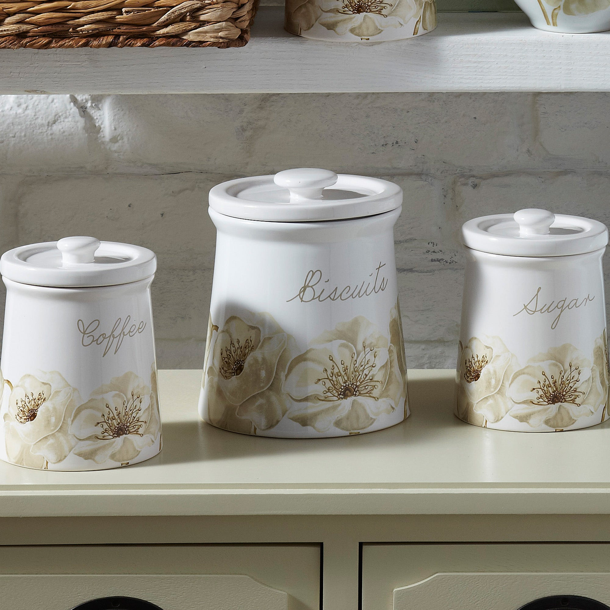 Natural Flower Kitchen Canister Collection