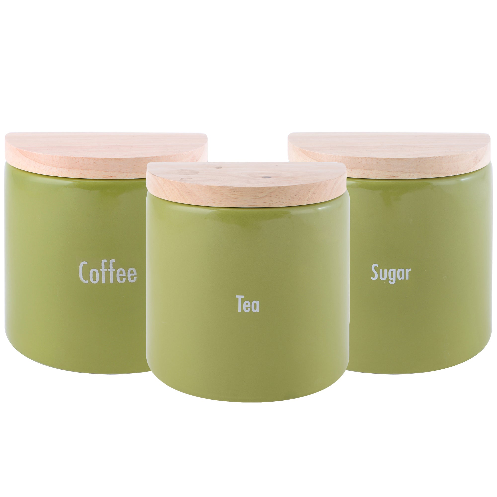 Modern Country Leaf Kitchen Canister Collection