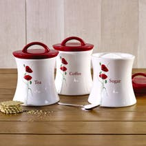 Poppy Kitchen Canister Collection