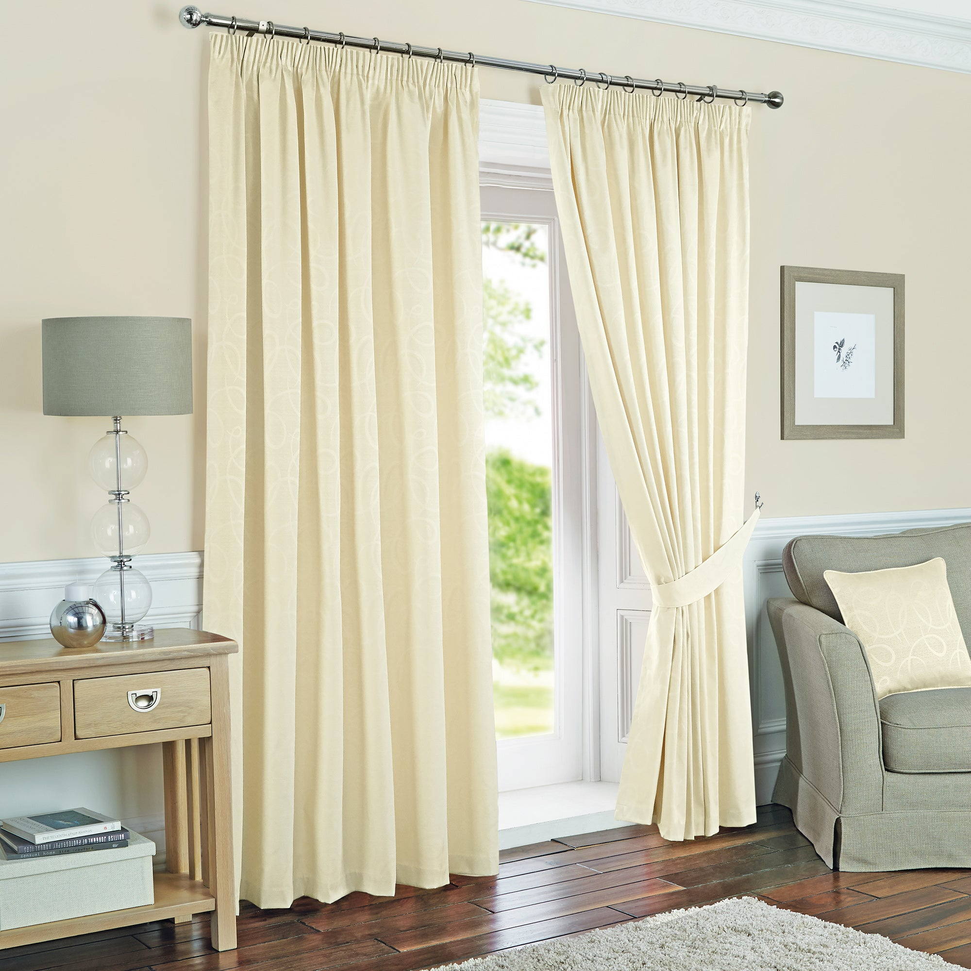 Toledo Cream Thermal Curtain Collection