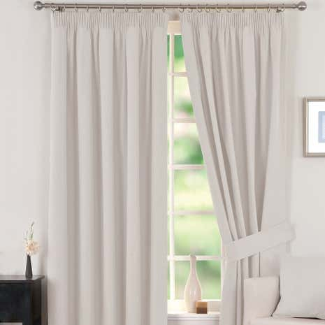 Natural Solar Blackout Pencil Pleat Curtain Collection
