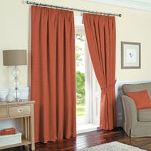 Terracotta Toledo Thermal Curtain Collection