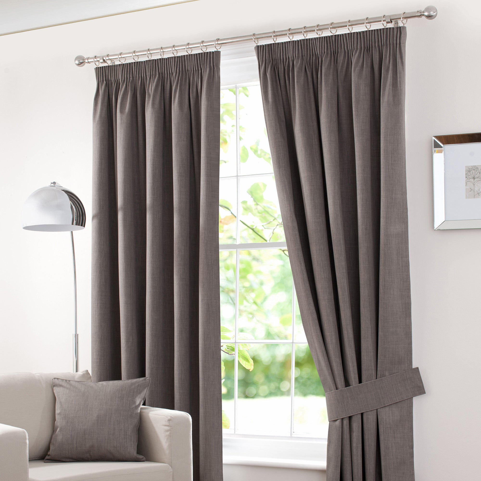 Stone Solar Blackout Pencil Pleat Curtain Collection