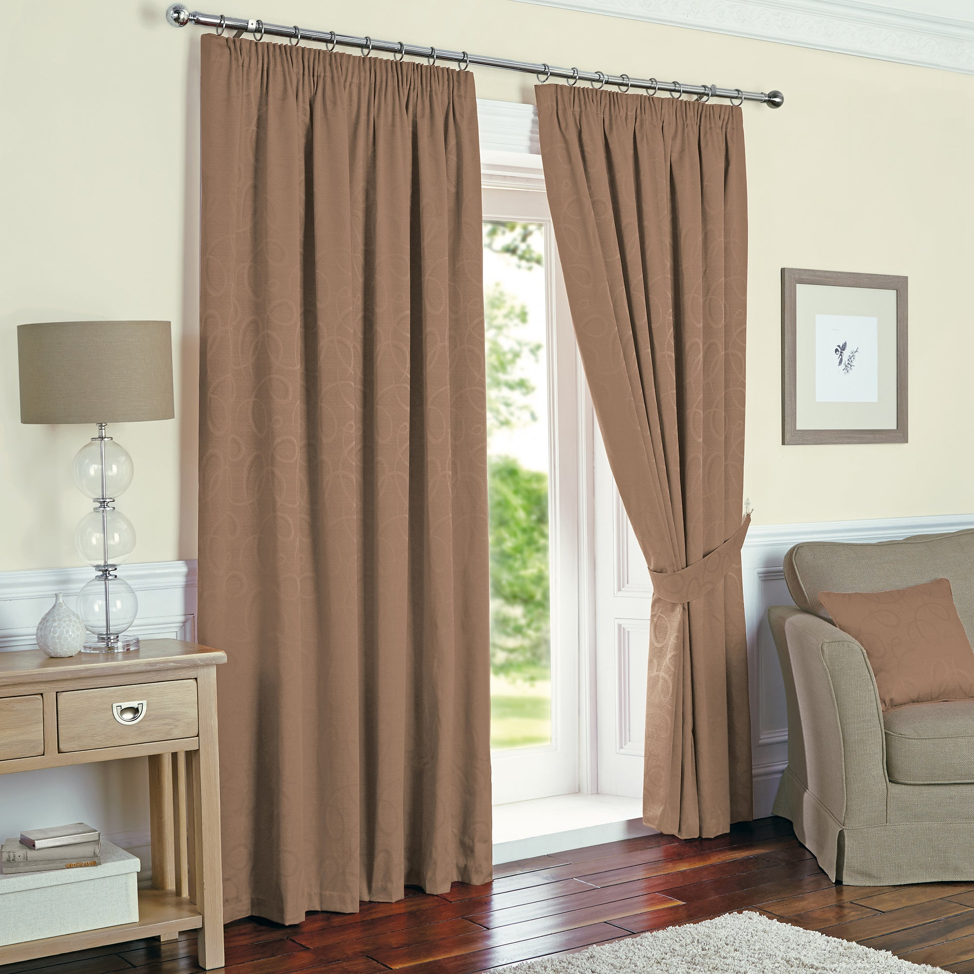 Toledo Mocha Thermal Curtain Collection