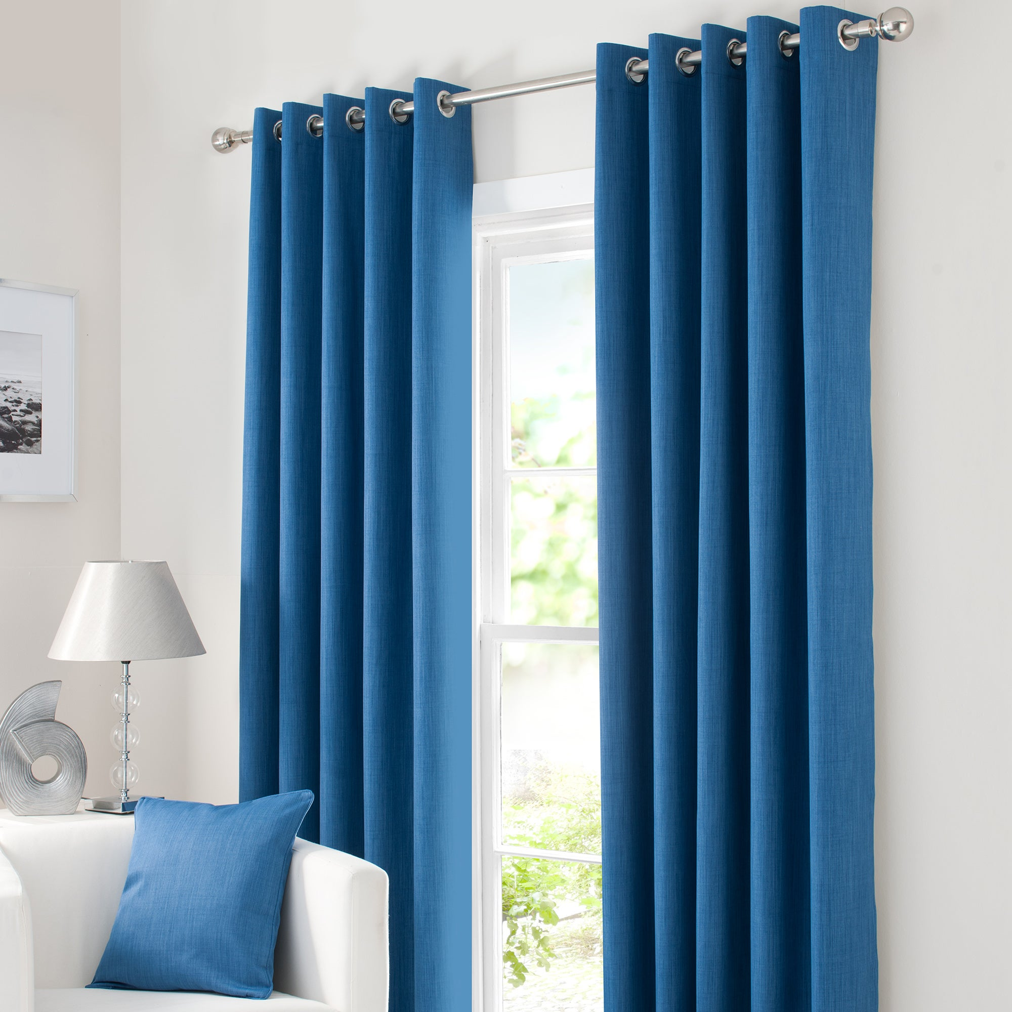 Blue Solar Blackout Eyelet Curtain Collection