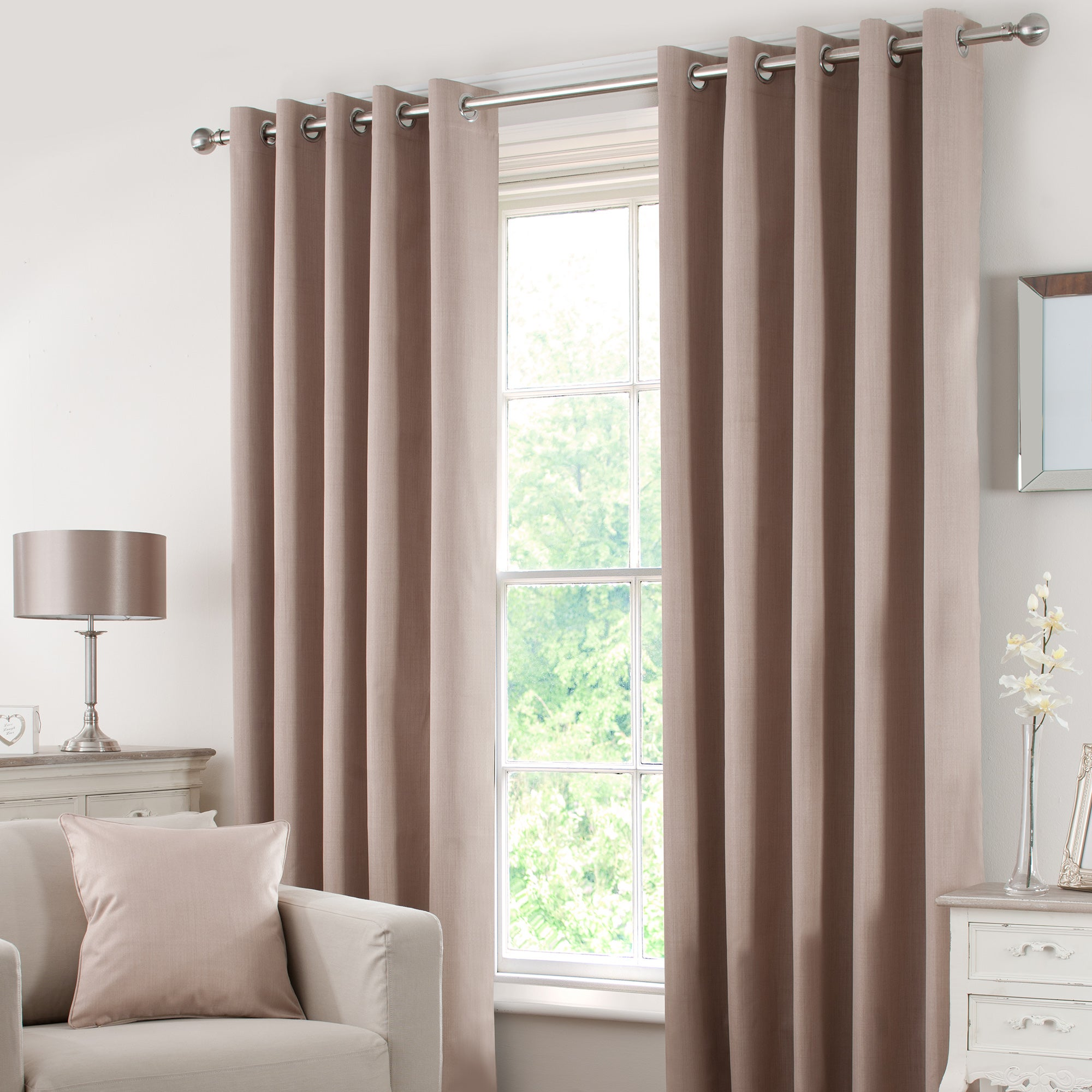 Biscuit Solar Blackout Eyelet Curtain Collection
