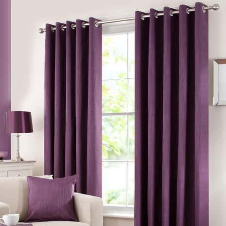 Aubergine Solar Blackout Eyelet Curtain Collection Dunelm