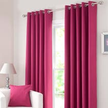 Fuchsia Solar Blackout Eyelet Curtain Collection