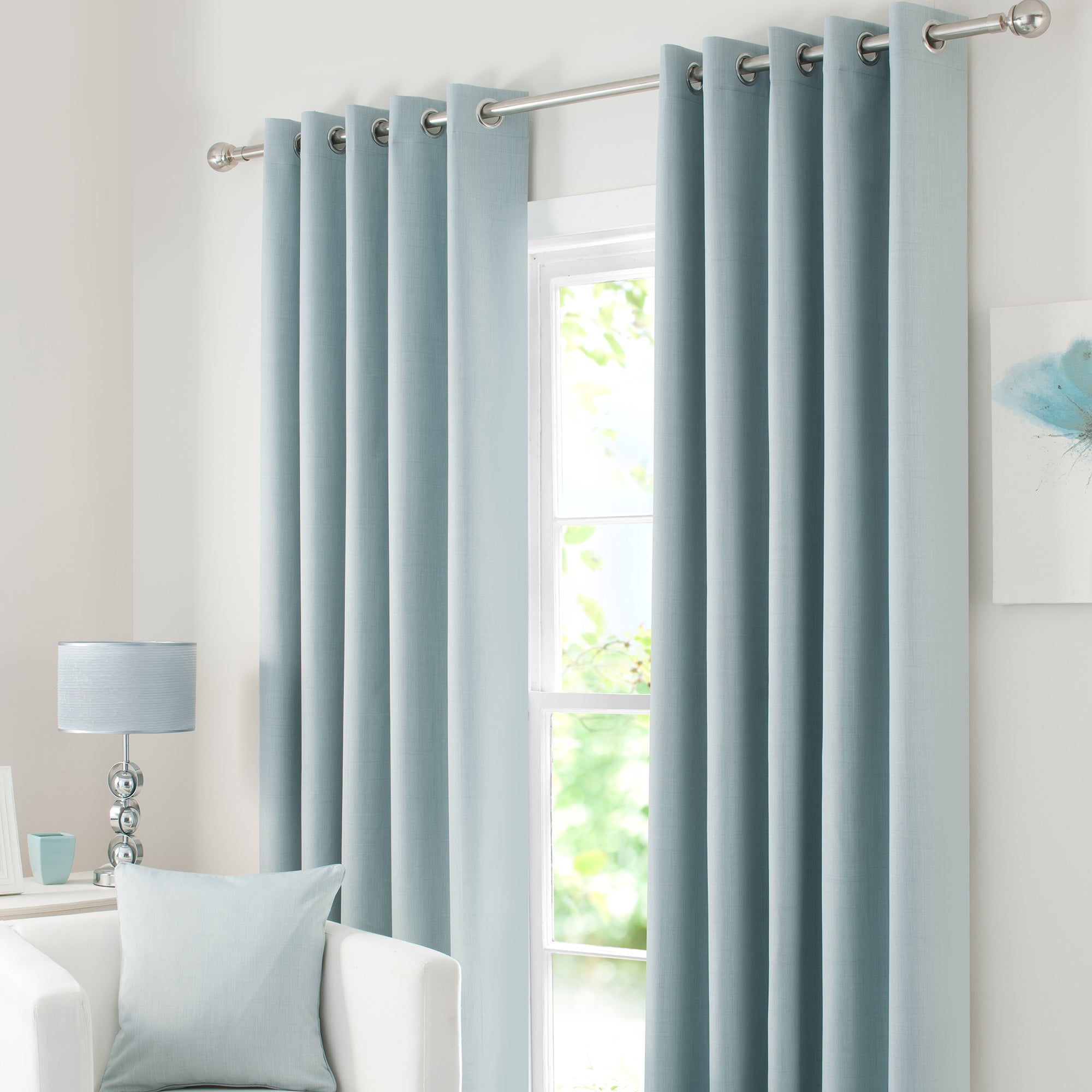Duck Egg Solar Blackout Eyelet Curtain Collection
