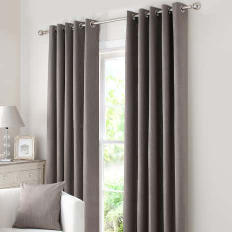 Stone Solar Blackout Eyelet Curtain Collection Dunelm