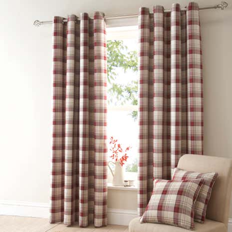 red balmoral eyelet curtain collection dunelm. Black Bedroom Furniture Sets. Home Design Ideas