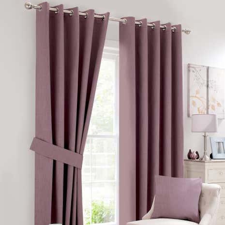 Mauve Solar Blackout Eyelet Curtain Collection Dunelm