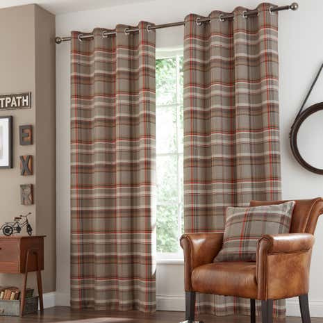 rust hoxton eyelet curtain collection dunelm. Black Bedroom Furniture Sets. Home Design Ideas