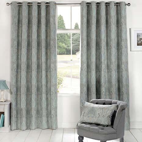 duck egg novello eyelet curtain collection dunelm. Black Bedroom Furniture Sets. Home Design Ideas
